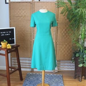Vintage 80s 90s Blue Sheath Dress